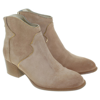 Patrizia Pepe Suede Ankle Boots in beige