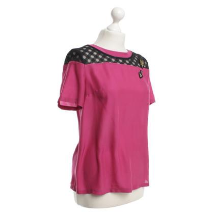 Roberto Cavalli Zijden blouse in roze