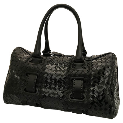 Bottega Veneta Leather and patent leather bag