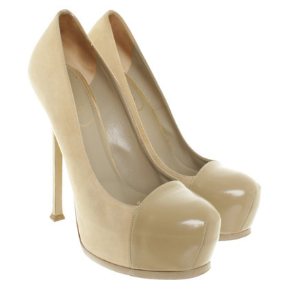 Yves Saint Laurent Plateau-pumps in beige