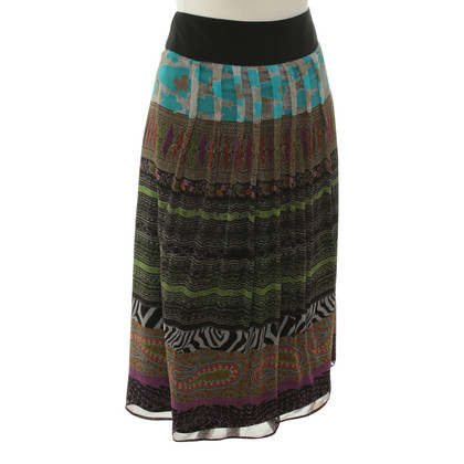 Etro Patterned skirt silk