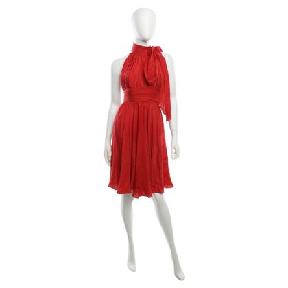 Milly zijden jurk in het rood