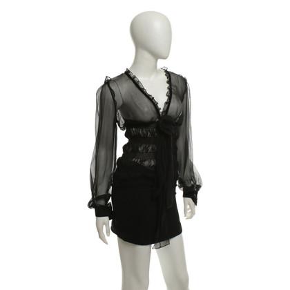 Dolce & Gabbana Seidenbluse in Schwarz