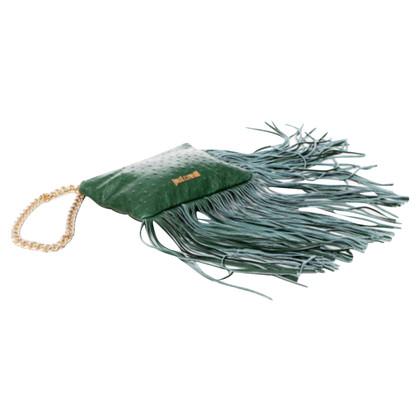 Just Cavalli Green Fringe Mini clutch tas