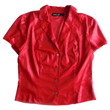 Marc Cain Short sleeve blouse in red
