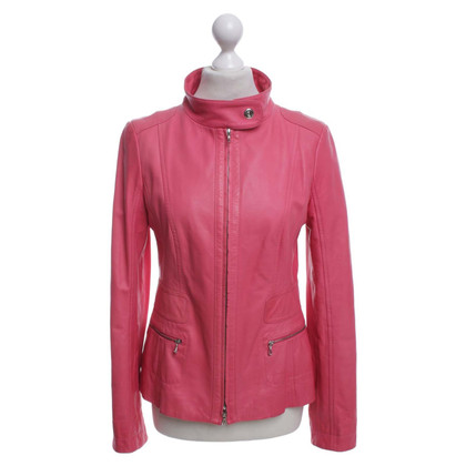 Laurèl Leather Jacket in Pink