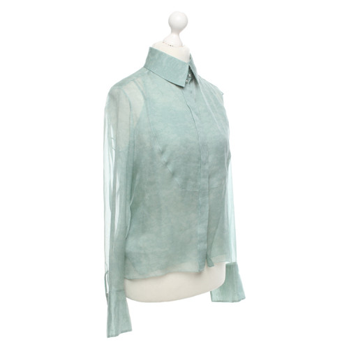 7bc07a9f8c73f Chanel Top Silk in Green - Second Hand Chanel Top Silk in Green buy ...