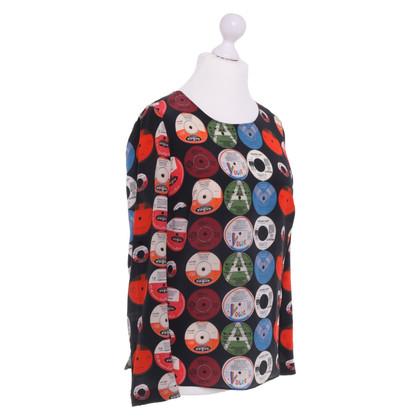 Akris Silk blouse with pattern
