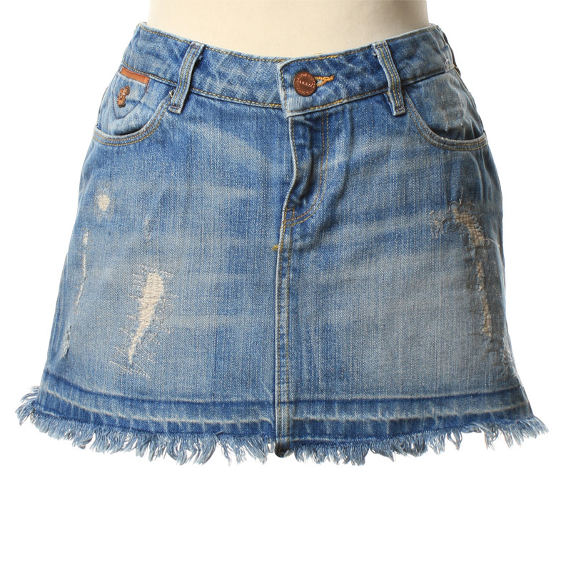 Maison Scotch Mini jeans skirt