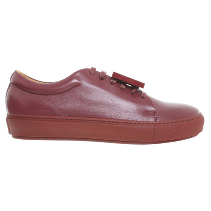 Acne Veterschoenen leer