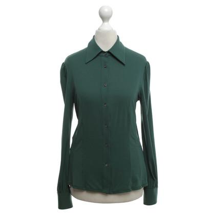 Prada Silk blouse in green