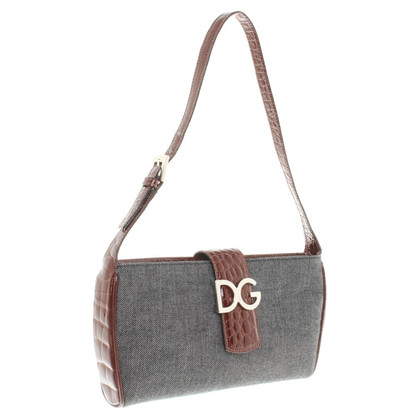 D&G Handbag in grey / brown