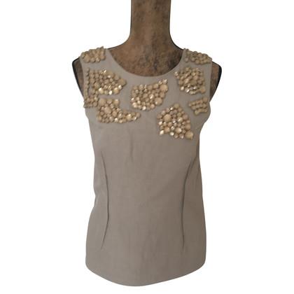 Marni Top with gemstone trim