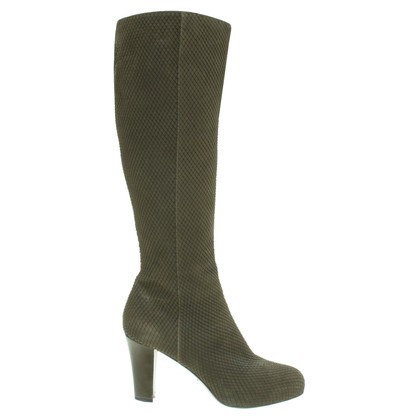 Sergio Rossi Boots in olive green