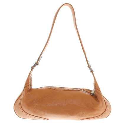 Escada Cognac-colored leather handbag