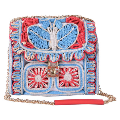"Dolce & Gabbana ""Miss Dolce floreale rafia Satchel Bag"""