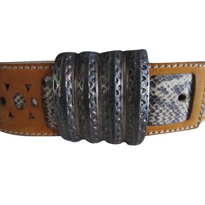 Kenzo Cintura Pelle di serpente