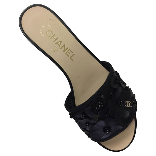 c79f929cf1e Chanel CHANEL SANDALO LOW FLOWERS - Second Hand Chanel CHANEL ...