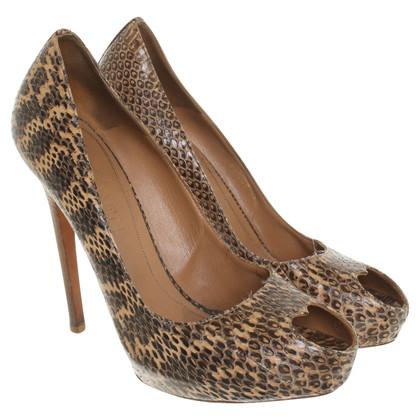 Alexander McQueen Peep-toes in reptile look