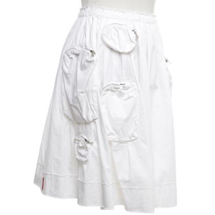 Prada skirt in white