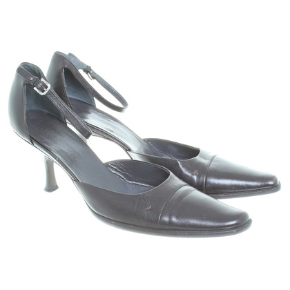 Jil Sander Pumps in Dunkelbraun