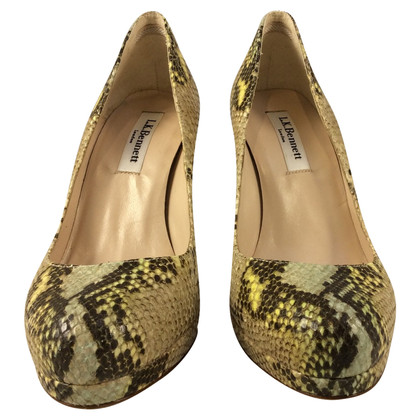 L.K. Bennett pumps in snakeskin look
