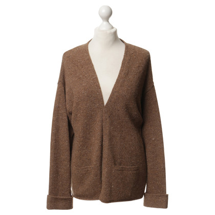 American Vintage Cardigan in Brown-flecked
