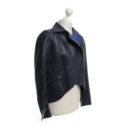 Fendi Leather jacket in blue
