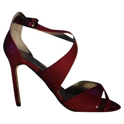 Manolo Blahnik cherry sandal