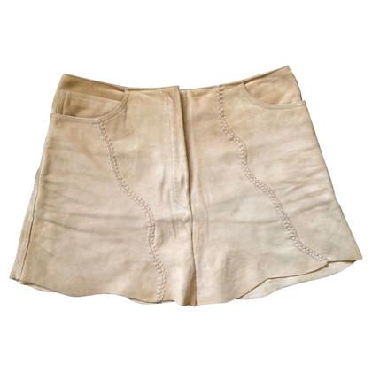 Blumarine Suede mini skirt