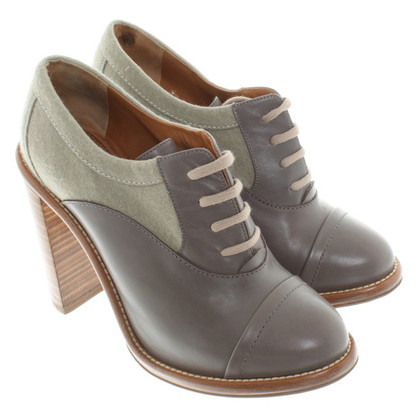 Chloé Ankle Boots in Gray-Green