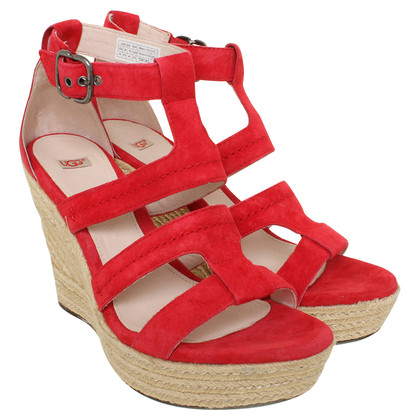 Ugg Wedges in Rot