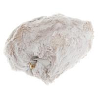 Prada Rucksack mit Pelzbesatz