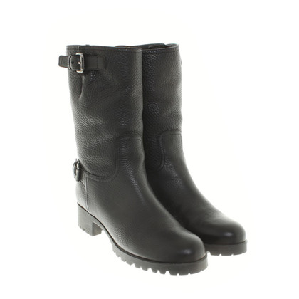 Prada Biker boots in black