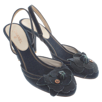 Chanel Denim di sandali slingback