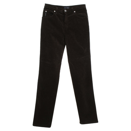 Armani Jeans trousers in velvet look
