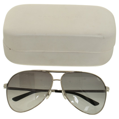 Marc Jacobs Pilotenbrille in Silberfarben