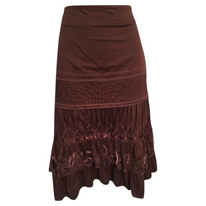 Karen Millen Brown Cotton Skirt