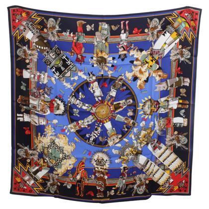 """Hermès Seidentuch """"Pueblo Indian Mythology"""""""