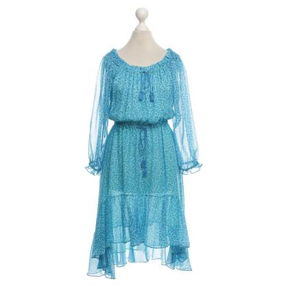 Diane von Furstenberg Kleid mit blauem Muster