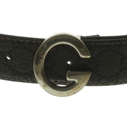 Gucci Guccissima belt in gray