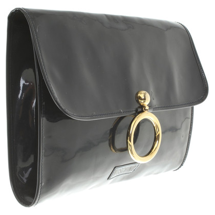 Moschino clutch in donkerblauw