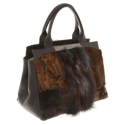 Fabiana Filippi Handbag with fur trim