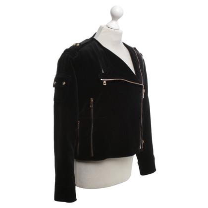 Balmain Veste de velours en noir
