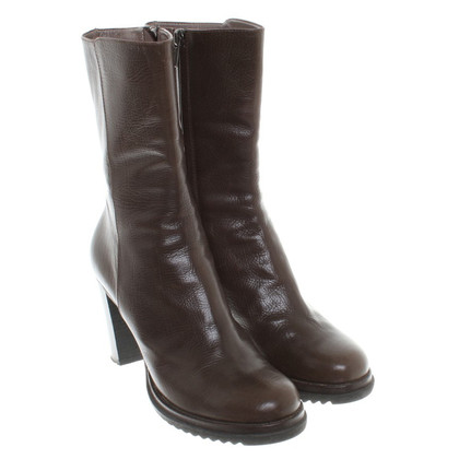 Jil Sander Mid Leather Ankle Boots