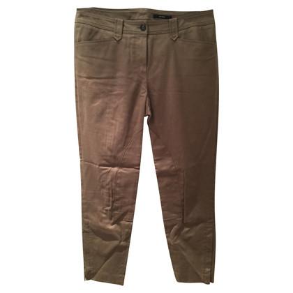 Windsor pantaloni Nizza in stile di guida color fango,