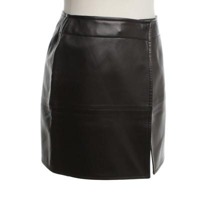 Hermès gonna di pelle di colore nero