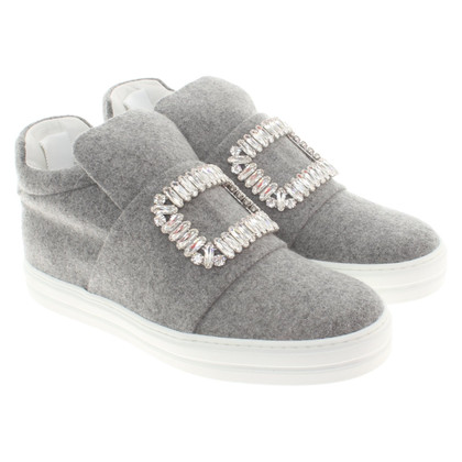 Roger Vivier Slip ons with gemstone trimming
