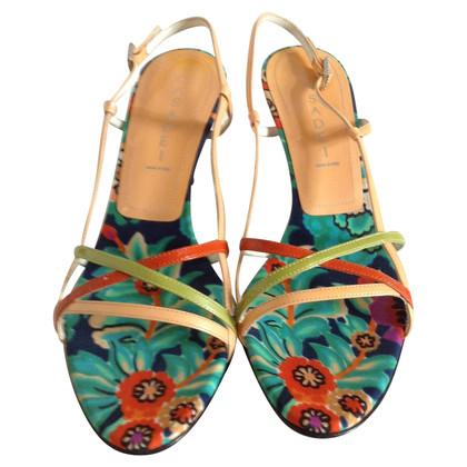 Casadei Sandales avec motif de fleurs