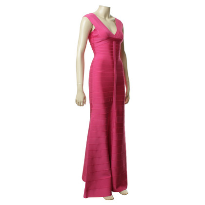 Herve Leger Abendkleid in Pink